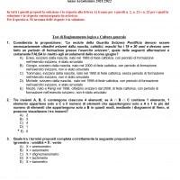 Soluzioni test medicina 2021: compito aggiornato