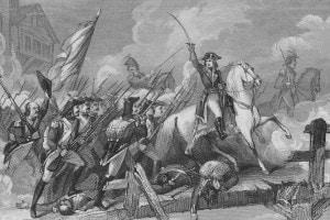 Napoleone durante la battaglia di Lodi